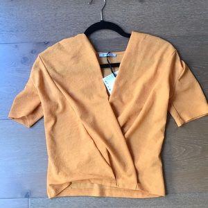 Mustard colored Zara Shirt